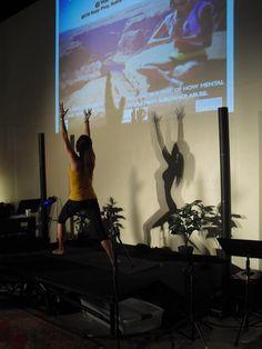 Kara Houston teaching yoga @ Rise Above: Breaking Habits