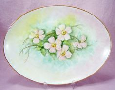 Kaysons Hand Painted Platter is Signed by by RichardsRarityRealm, $32.00