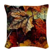 Autumn Leaves Woven Throw Pillow