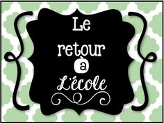 Idées pour la rentrée scolaire French School, French Class, Teaching Reading, Teaching Math, Maths, First Day Of School, Back To School, French Immersion, Teacher Binder