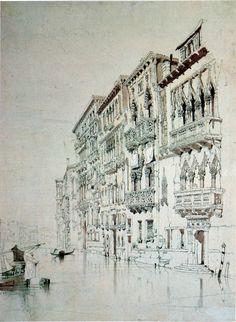 John Ruskin - Casa Contarini Fasan, Venice, 1841