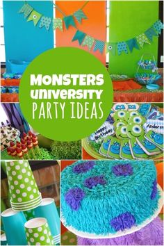 boy's Monster University themed birthday party www.spaceshipsandlaserbeams.com