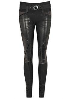 Black coated panelled jersey leggings - Harvey Nichols #style #fashion