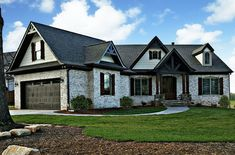 This luxury Craftsman style home with Arts & Crafts influences (Plan #106-1275) has over 2400 sq ft of living space. The 1 story floor plan includes 3 bedrooms. #craftsman #houseplan