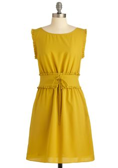 Super easy, right? Simple shift dress with ruffle arms, then make the belt separately and attach.