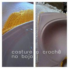 crochelinhasagulhas: Bojo com crochê e bordado
