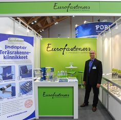 Eurofasteners Oy oli messuilla mukana laajalla kiinnitystarvikkeiden ja komponenttien tarjonnallaan.  Yrityksen tuotevalikoimaan kuuluu esimerkiksi kiinnitystarvikkeet, muovituotteet, tuotannon tarveaineet, sähkökomponentit ja asiakaskohtaiset tuotteet.  Eurofasteners Oy:n solmittua yhteistyö/ jälleenmyyntisopimuksen Lindapter:n kanssa tuote valikoima kasvaa entisestään. Lisätietoja: www.eurofasteners.fi, www.lindapter.com