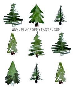 Watercolor Christmas Tree, Watercolor Trees, Christmas Paintings, Watercolor Background, Abstract Watercolor, Watercolor Illustration, Christmas Art, Watercolor Landscape, Watercolor Animals