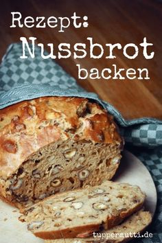 Baked Nut Bread- Unique and Incredibly Nussbrot Backen- Einzigartig Und Unglaublich Lecker! Easy Cheesecake Recipes, Easy Cookie Recipes, Bread Recipes, Baking Recipes, Dessert Recipes, Baking Desserts, Nut Bread Recipe, Homemade Cheesecake, Pizza Recipes