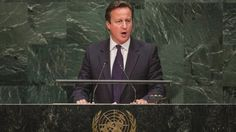 David Cameron discussing the UK involvement against is militants