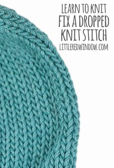 Learn how to fix a dropped knit stitch in your kni…