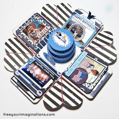 This is the Inside View of BIRTHDAY GIFT for boyfriend with Minimal Sailing Design Theme Featuring Round Cake in the middle