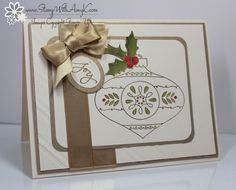 Christmas Bauble - Stampin' Up! - Stamp With Amy K