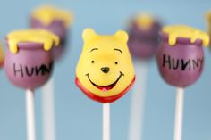 Winnie the Pooh cake pops.