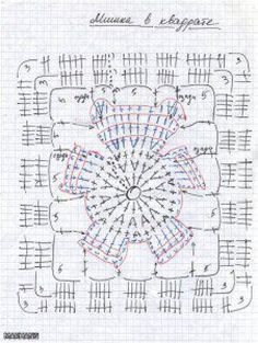 Chart for Bear Square, a crochet blanket