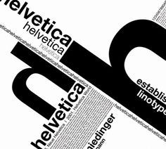"Despite their criticisms, typography experts agree that Helvetica embodies the ideal of objectivity that was propagated by Swiss graphic design at that time. This feature has made the ""featureless typeface"" into an icon of modern design. Typo Poster, Poster Fonts, Typographic Poster, Typography Letters, Lettering, Typo Design, Graphic Design Posters, Graphic Design Typography, Graphic Design Inspiration"