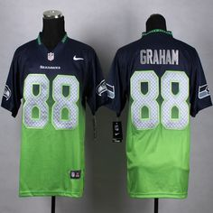 Men's Seattle Seahawks Jimmy Graham Nike College Navy Elite Jersey