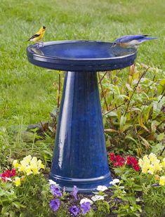 Ceramic Bird Bath Garden Art Structures Hardscapes Pinterest Birds And
