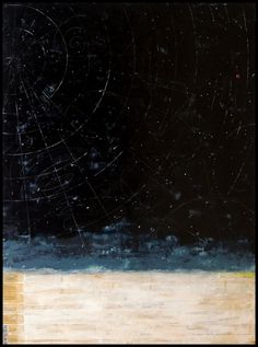 """Grace Ann WarreClear Night , 2014/2015  41 """" x 31 """" x 1.5 """"  Oil, beeswax and pigment on wood panel"""