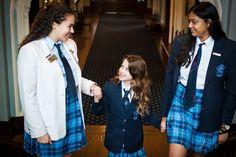 Trafalgar Castle School Castle School, Cute School Uniforms, Durham Region, Business Dresses, School Fashion, Gymnastics, Fall, Coat, Jackets