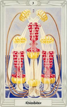 3 de coupes (Abundance) - Tarot Thoth par Aleister Crowley