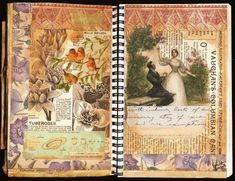Collage journal pages