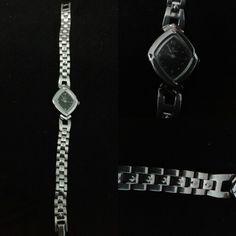 #titan ladies #watch in silver. metal strap.