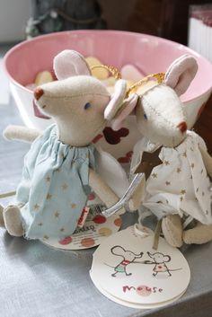 Maileg angel Mice