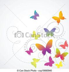 mariposas, Plano de fondo