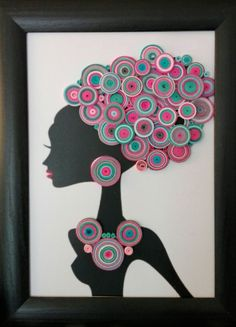 Best 12 My first African quill art. I thought it was hard to make especially when it comes to its details. But it's so fulfilling to see the result. Quilling Craft, Quilling Designs, Rock Crafts, Arts And Crafts, Paper Crafts, Disney Button Art, Quilled Paper Art, Africa Art, Pebble Art