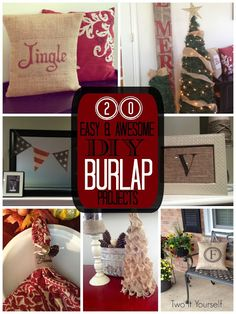 DIY:: #20 Easy and Awesome- Budget BURLAP Holiday Home Decor Project Ideas !