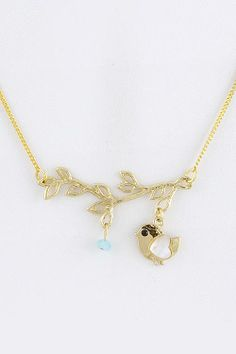 Gold Bird On Branch Necklace · Street Style Fashion · Online Store Powered by Storenvy