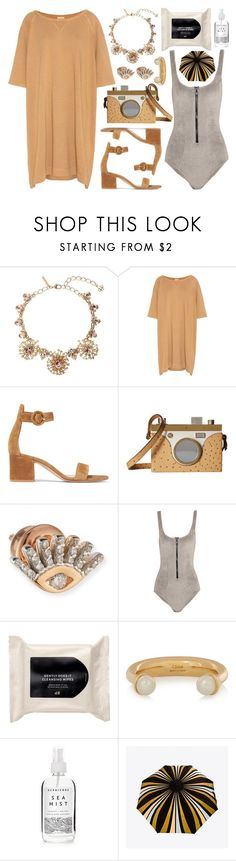 """""""Say Cheese"""" by cherieaustin on Polyvore featuring Oscar de la Renta, Gianvito Rossi, Charlotte Olympia, Kismet by Milka, Lisa Marie Fernandez, H&M, Chloé, Herbivore and RainDance"""
