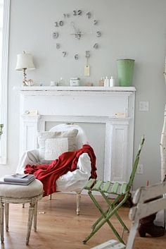 Dreamy Whites: Stepping out into blog land! - The Mantle, well I love these. I think they make a great statement regardless of if you have a fireplace or not. Always a great conversation piece as well. My husband's friends don't understand why I would have a mantle up, without the fireplace.