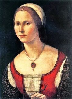 Portrait of a Young Woman by Vittore Carpaccio - an Italian artist of the High Renaissance whose work inspired this production's costume and set designer Jens-Jacob Worsaae, Italian Renaissance Dress, Renaissance Kunst, Renaissance Portraits, Renaissance Jewelry, Renaissance Costume, Renaissance Paintings, Renaissance Fashion, Italian Paintings, Italian Outfits