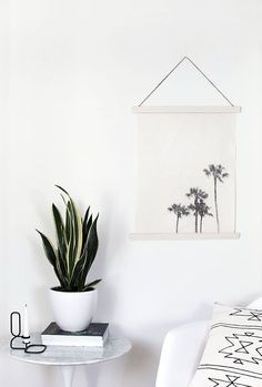 DIY image transfer wall hanging