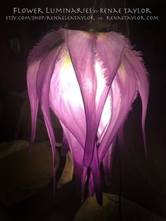 Lavender and Green (Wavy and Fringed) Lily Luminaire A bright idea for your blooming mind Perfect for Weddings, Birthdays, Babys Room, or anywhere you want to add a special touch! if this is a time sensitive gift PLEASE CHECK WITH ME BEFORE ORDERING to find out the current wait