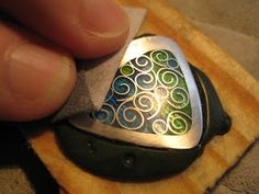 Sandra McEwen: Come visit my studio this weekend! Tutorial to make this pendant with silver sheet, silver wire, and enamel powders.