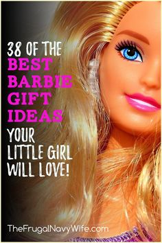 Have a Barbie fan in your home? I've gathered up 38 of the all-time best Barbie Gift Ideas here for you. Surprise your little one for a special occasion this year. #frugalnavywife #barbie #giftguide #giftideas #barbiefans | Barbie Lovers | Barbie Fans | Gift Guides | Gift Ideas for Barbie Lovers | Holiday Gift Guide Holiday Gift Guide, Holiday Fun, Holiday Gifts, Barbie, Navy Wife, Seasonal Food, Easy Diy Projects, Holidays And Events, St Patricks Day