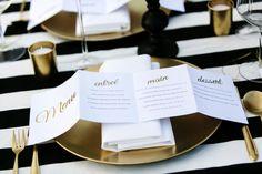 Fold out wedding menu idea //  CL Weddings  #wedding #menu #stationery