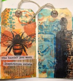 SCRAPiVERSE: Encaustic Tag Book Class with DINA WAKLEY!