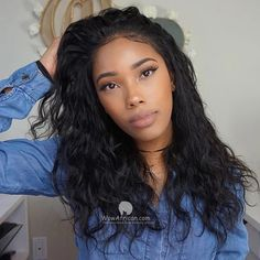 Lace Front Wigs Black Hair 100 percent human hair wigs for african ame – dianawigs Natural Hair Wigs, Natural Afro Hairstyles, Wig Hairstyles, Straight Hairstyles, Black Hair Afro, Long Black Hair, Lace Front Wigs, Lace Wigs, Delaware