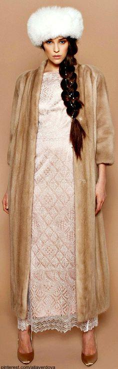 A LA RUSSE Anastasia Romantsova ~ pre-fall 2013 ~ Orenburg down dress | The House of Beccaria