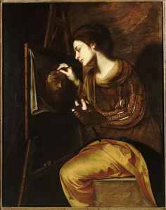 Francesco Guardi A Female Artist Painting the Image of the Sudarium
