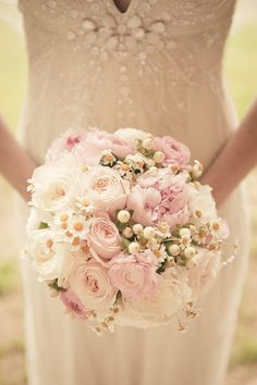 #peony #ranunculus #bouquet Photography by theweddingac.com  Read more - http://www.stylemepretty.com/2013/08/13/pennsylvania-vintage-wedding-from-the-wedding-artists-collective/