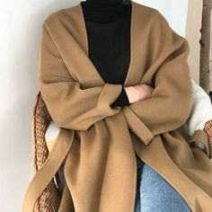Comfy oversized camel jacket