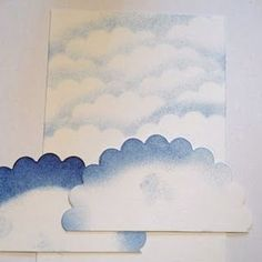 Brilliant!  Use 1/2 a scallop circle to make a cloud background.