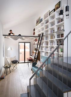 Designed by Egue Y Seta, this inspiring apartment is located in Madrid, Spain. The designers turned an old Madrid house from the 50´s into a new and welcoming home to a young couple with kids. They reconstructed the unique place, with pieces of custo