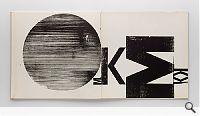 Wolfgang Weingart, Experiment Buch, Doppelseite, 1962, Holzdruck. Museum für Gestaltung Zürich, Grafiksammlung; Foto: U. Romito, © ZHdK
