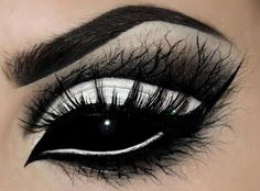 black and white make up by #arseniclover <3